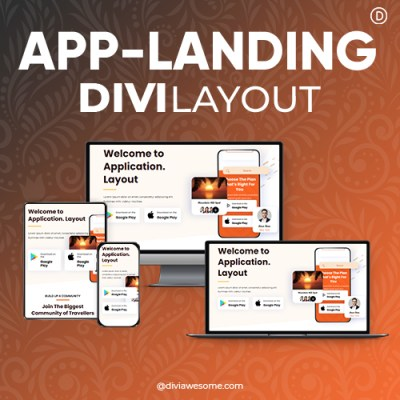 Divi App Landing Layout