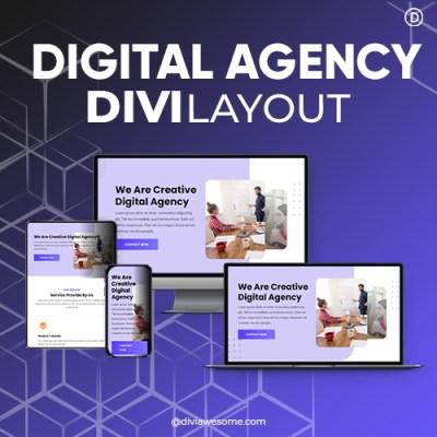 Divi Digital Agency Layout