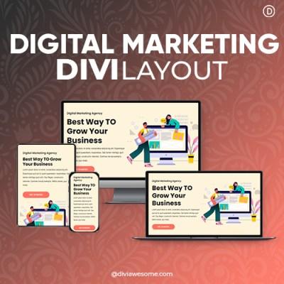 Divi Digital Marketing Layout 3