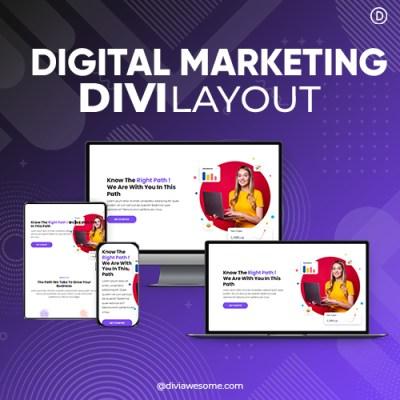 Divi Digital Marketing Layout