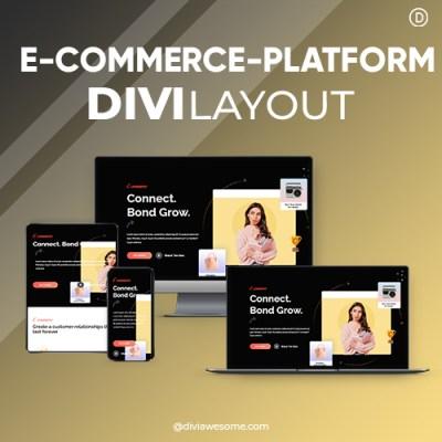 Divi E-commerce Platform Layout