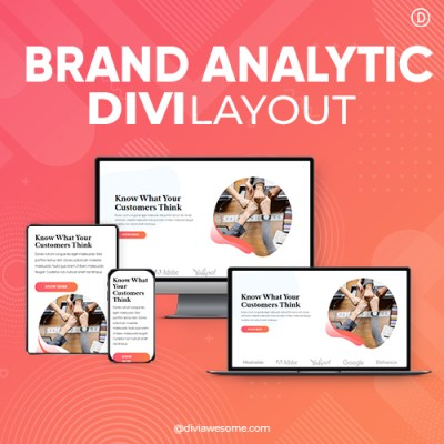 Divi Brand Analytic Layout