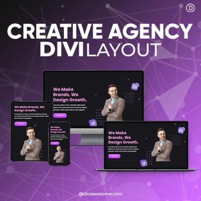 Divi Creative Agency Layout 3