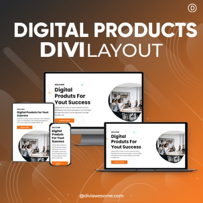 Divi Digital Products Layout