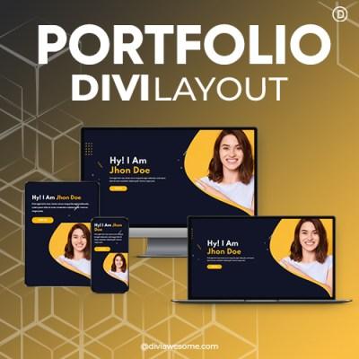 Divi Portfolio Layout