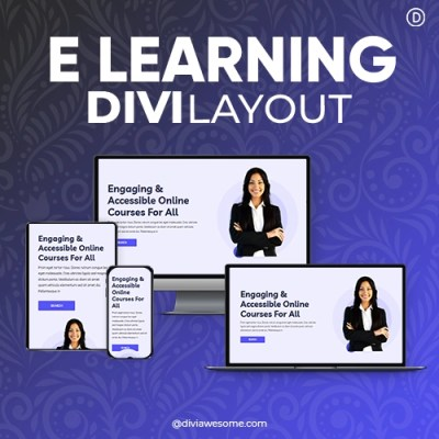 Divi E-learning Layout 2