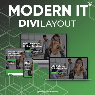 Divi Modern IT Layout