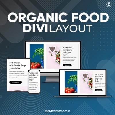 Divi Organic Food Layout 2