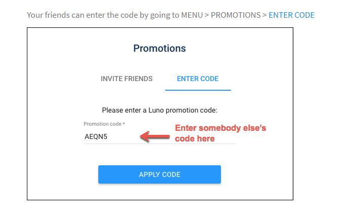 Luno Promo code - HFCCY