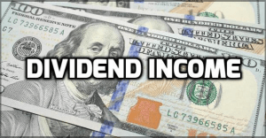Hundred dollar bills in dividend income