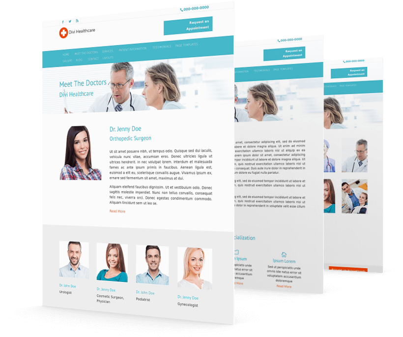 Divi child theme for medical professionals