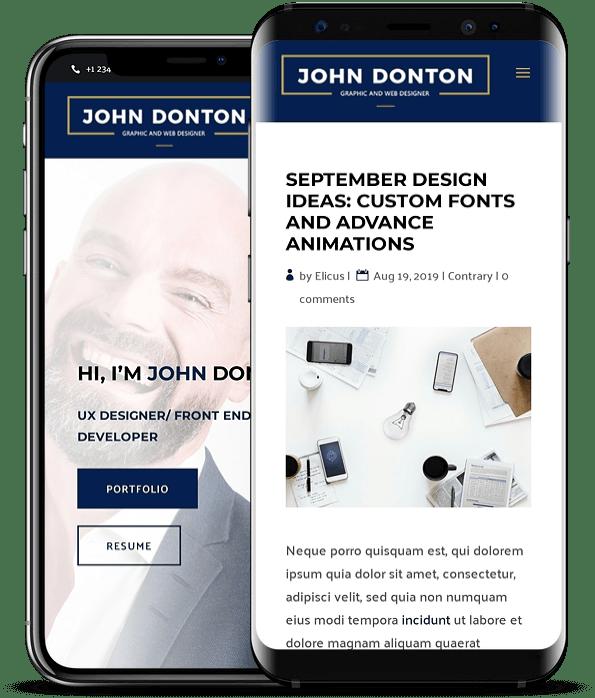 Divi child theme for Portfolio websites