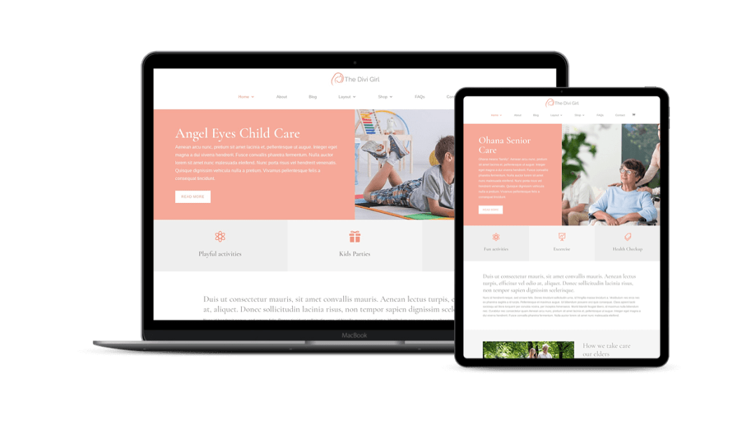 Divi childcare and seniorcare