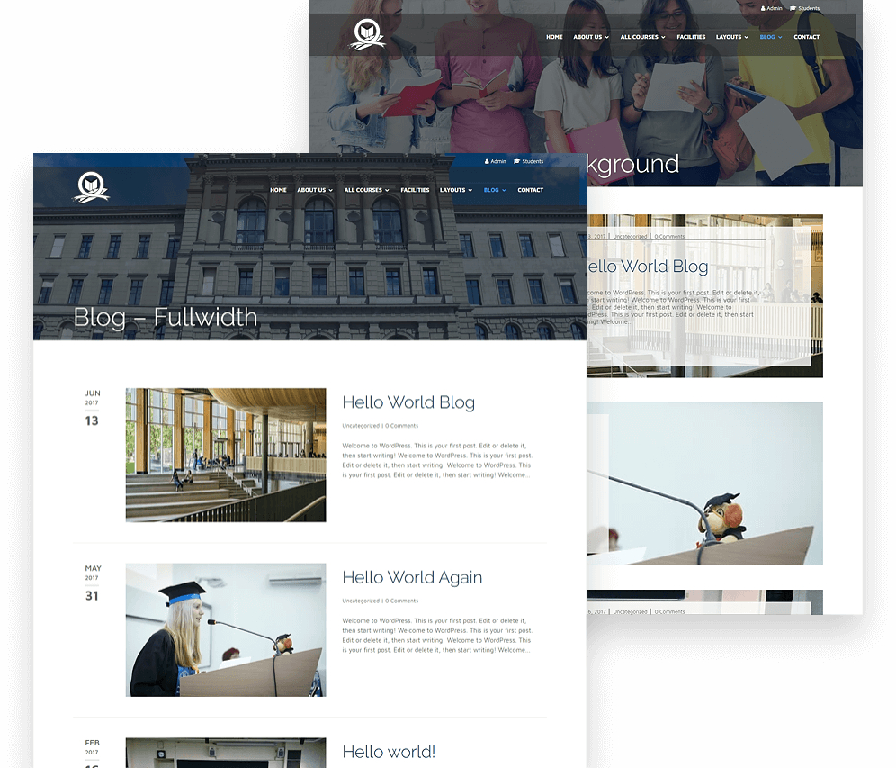 Divi university child theme
