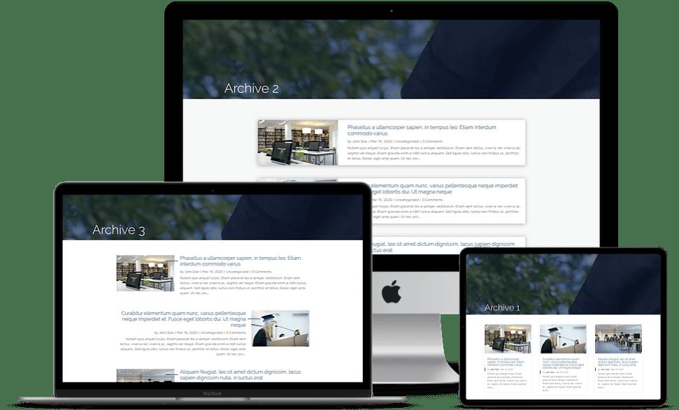 multiple custom blog layouts