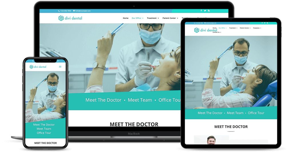 Divi child theme for dental clinic