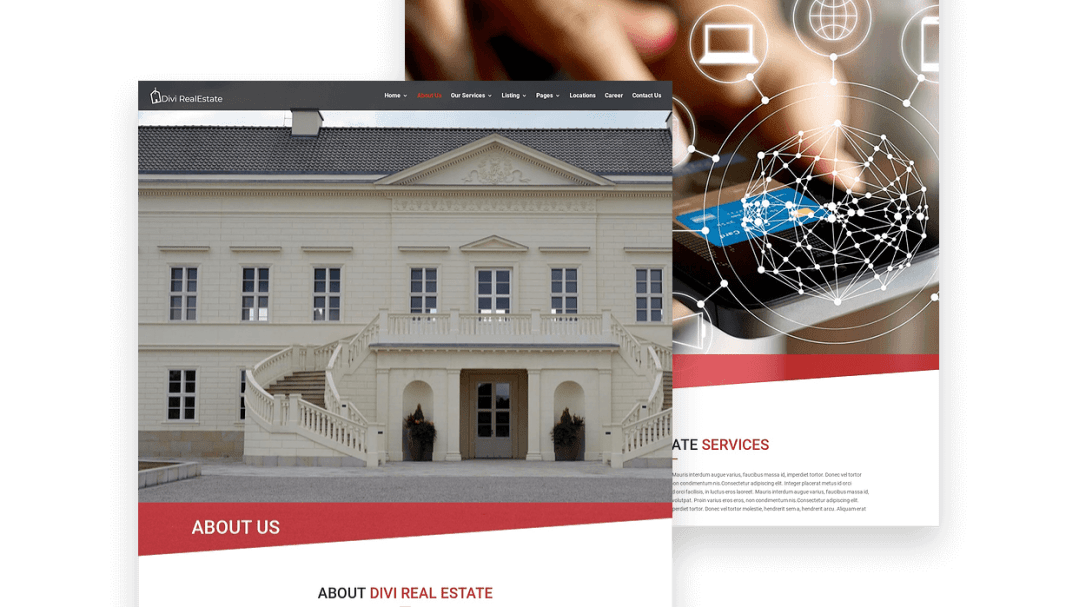 Divi real estate template