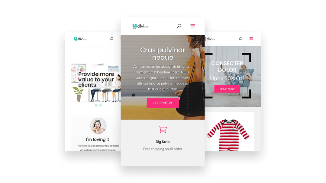 WooCommerce child theme for Divi