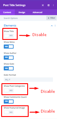 Post title for meta description disable function
