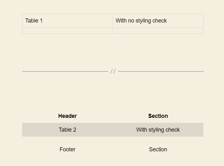 WP Gutenberg Table with style check