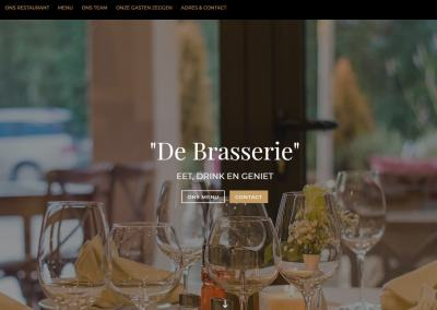 One-page lay-out voor restaurant
