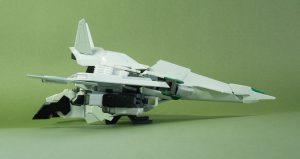 試作量産型可変機エクシードジャイヴ 飛行形態側面
