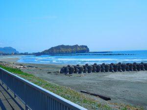 イタンキ浜 鳴り砂海岸