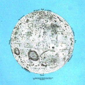 Science - Astronomy - Geography of the moon, French 19th C