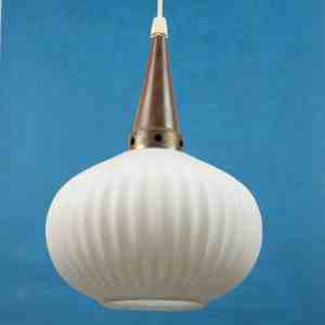 Midcentury Philips Teak Glass Ceiling Light S 1960s