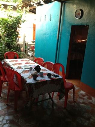 Dining at the Cornejo's