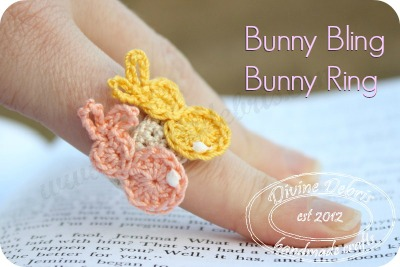 Bunny Bling Bunny Ring by DivineDebris.com