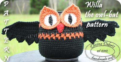 Willa Owl-Bat Pattern by DivineDebris.com