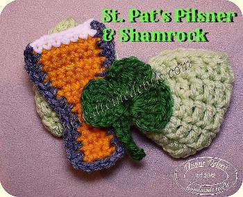 St. Pat's Pilsner & Shamrock pattern by DivineDebris.com