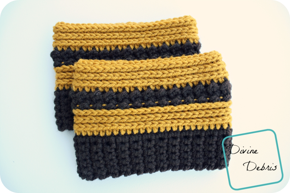 New Diana Boot Cuffs free crochet pattern!