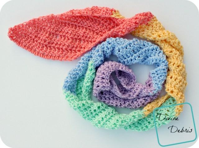 Julie Scarf Crochet Pattern by DivineDebris.com