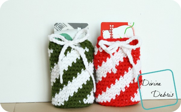 Gift Card Draw String Bag Crochet Pattern by DivineDebris.com