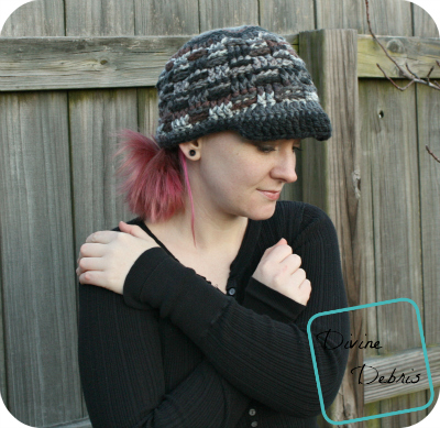 The free Becca Hat crochet pattern by DivineDebris.com