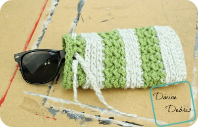 Diana Sunglasses Bag free crochet pattern by DivineDebris.com
