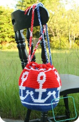 Anchors Away! Free Anchor Bag Crochet Pattern