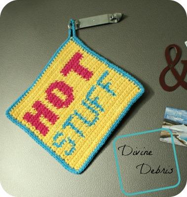 Hot Stuff Hot Pad free crochet pattern by DivineDebris.com