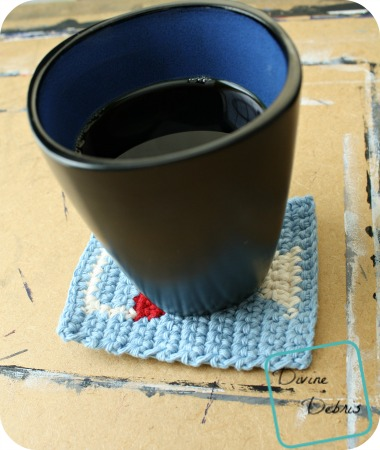 Wine Glass Coaster free crochet pattern by DivineDebris.com