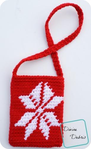 Snowflake Purse Free Crochet Pattern by DivineDebris.com