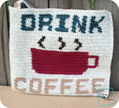 Drink Coffee Bag crochet pattern by DivineDebris.com