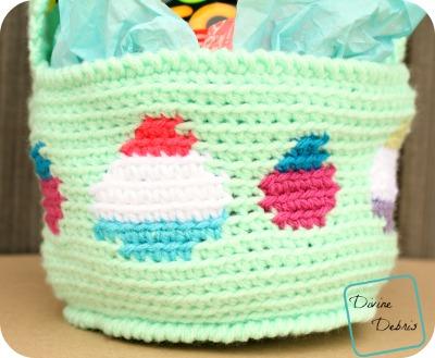 Tapestry Easter Basket crochet pattern by DivineDebris.com
