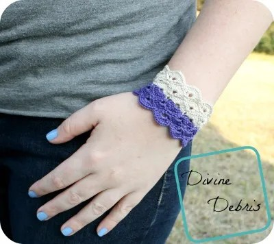 Janice Bracelet Crochet Pattern by DivineDebris.com
