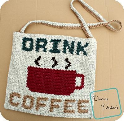 Drink Coffee Bag crochet pattern by DivineDebris.com