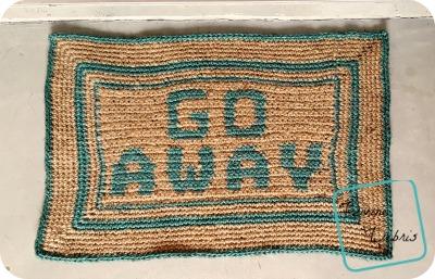 Go Away Doormat crochet pattern by DivineDebris.com