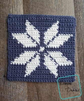 "8"" Tapestry Snowflake Afghan Square crochet pattern by Divine Debris"