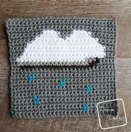 "8"" Tapestry Rain Cloud Afghan Square crochet pattern by divinedebris.com"