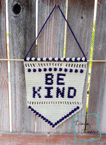 Kindness Costs You Nothing – The Be Kind Wall-Hanging Free Crochet Pattern